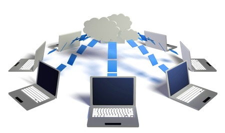 Cloud Computing Big Data Distributed Computing 3D photo