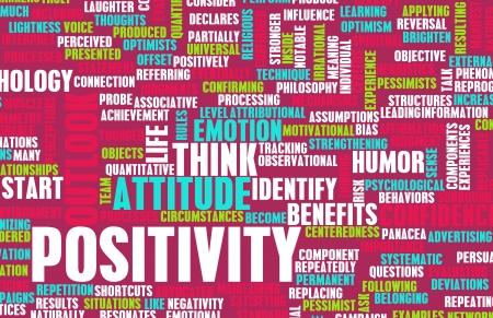 actitud positiva: La positividad y la actitud positiva de la vida Foto de archivo