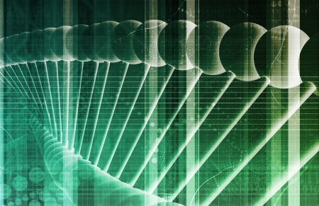 DNA Background with a Science Helix Strand Stock Photo - 20880719