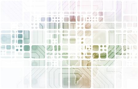 financial world: Modern Digital Economy on a Global Work Scale Stock Photo