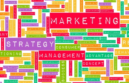 core strategy: Marketing Strategy and Core Objectives of Product Stock Photo