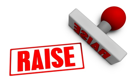 to raise: Raise Stamp or Chop on Paper Concept in 3d Stock Photo