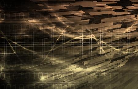 Cloud Computing Technology Concept als een abstract Stockfoto