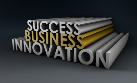 important: Business Innovation as an Important Idea in 3d Stock Photo