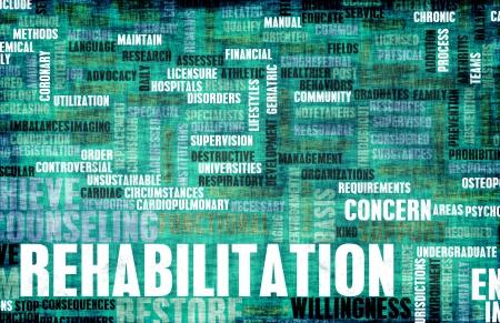 Rehabilitation oder Rehab einer Bedingung als Konzept