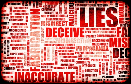 Mensonges et la propagation de faux renseignements Banque d'images - 21162700