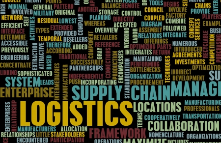 Logistics in SCM and DCM Business Concept Stock Photo