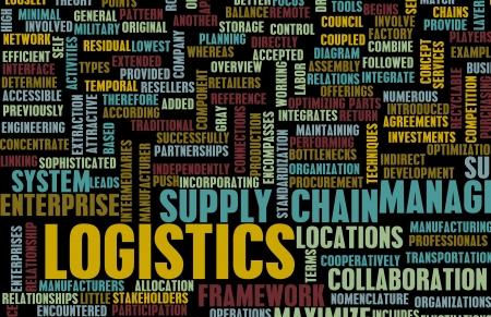 Logistics in SCM and DCM Business Concept Imagens