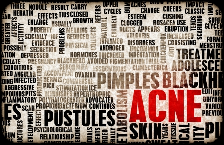 treatment: Acne Problem and Treatment Concept as Art Stock Photo