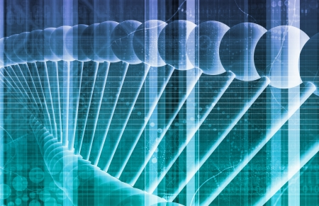 DNA Background with a Science Helix Strand  photo