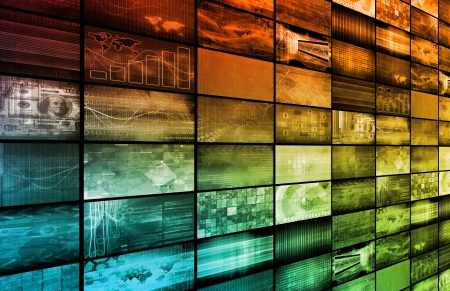 web 2 0: Technology Background as a Digital Abstract Art Stock Photo