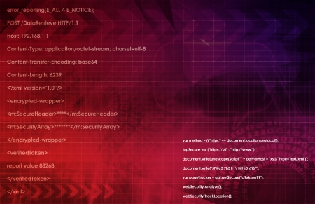 Web Application Database System in 3d Background Stock Photo - 21218425