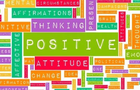 Thinking Positive as an Attitude Abstract Concept photo