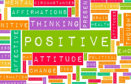 good attitude: Thinking Positive as an Attitude Abstract Concept Stock Photo