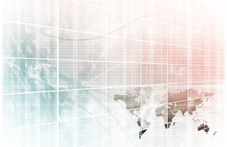bolsa de valores: Asunto de la tecnolog�a con el mapa del mundo en l�nea Foto de archivo