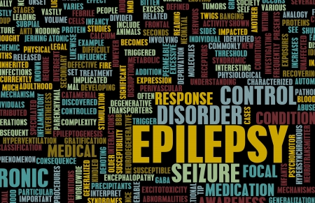 neurological: Epilepsy Concept and Epileptic Seizure as Disorder Stock Photo