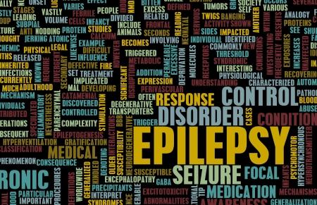 seizure: Epilepsy Concept and Epileptic Seizure as Disorder Stock Photo