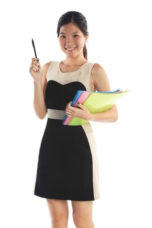 Zuversichtlich Hochschule oder Universität Student holding Pen