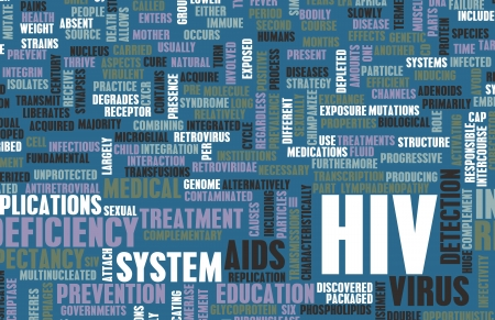HIV Awareness and Prevention Campaign Concept Art Stock Photo - 21276935