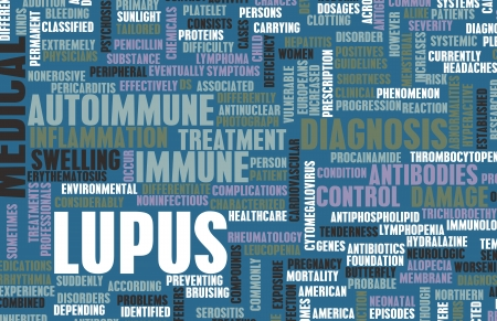 Lupus Disease Concept as a Medical Condition Stock Photo - 21276979