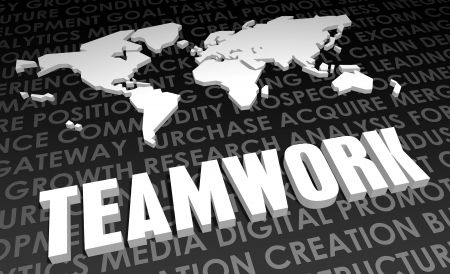 Teamwork Industry Global Standard on 3D Map photo