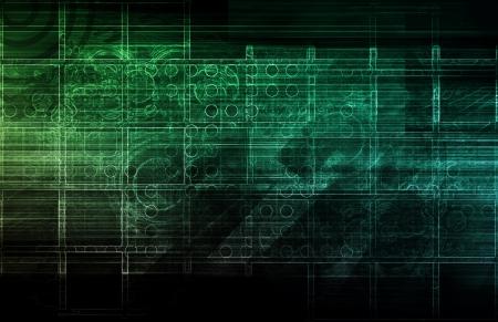 Evolving Technology Evolution as a Background Art photo