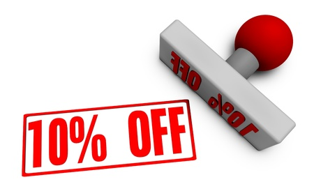 10% Off Discount or Sale on Offer For Sale Stock Photo - 21359073