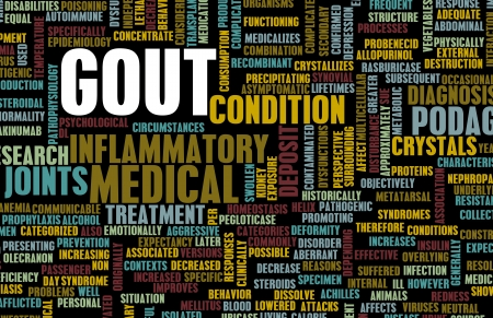 swollen: Gout Concept as a Medical Inflammatory Condition