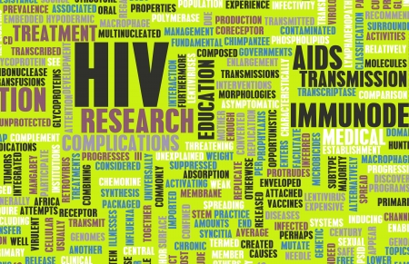 HIV Awareness and Prevention Campaign Concept Art Stock Photo - 21359095