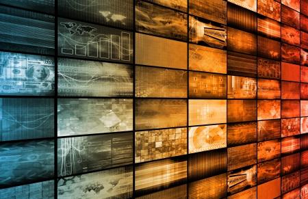 Neueste Technologie der ganzen Welt als Kunst