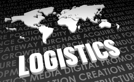 Logistics Industry Global Standard on 3D Map photo