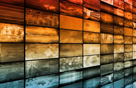 data distribution: Multimedia Technology Background as a Art Concept