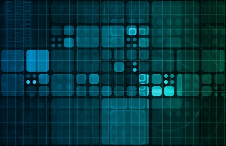 progressive: Technology Abstract with Futuristic Lines and Data Stock Photo