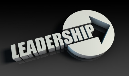 Leadership Concept With an Arrow Going Upwards 3D Stock Photo - 21359184