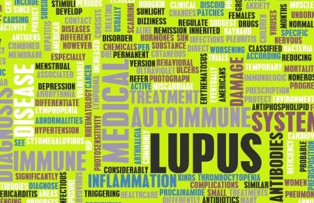 Lupus-Krankheit-Konzept als ein Medical Condition Lizenzfreie Bilder
