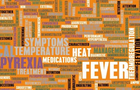 cures: Fever Concept as a Medical Pyrexia Art Stock Photo