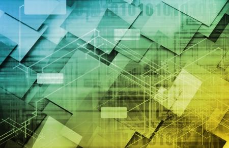 Informationstechnik oder IT Infotech als Kunst Lizenzfreie Bilder