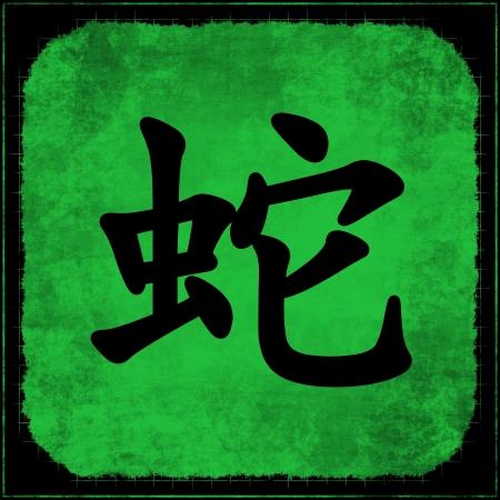 year snake: Snake Calligraphy Painting of Chinese Zodiac Animal