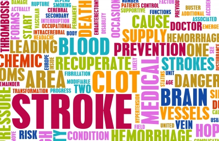 blood vessels: Stroke Medical Concept of Early Warning Signs