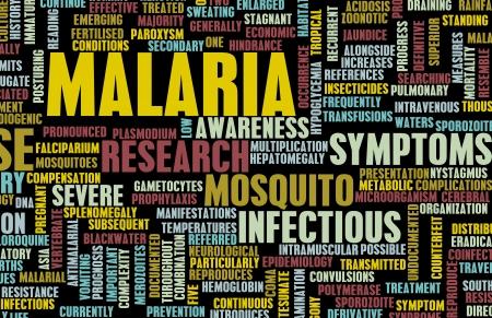communicable: Malaria Disease Concept as a Medical Condition Art Stock Photo