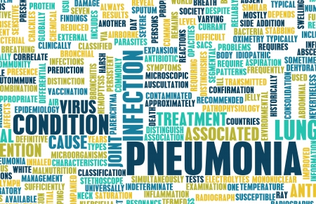 Pneumonia Concept as a Medical Disease Art photo