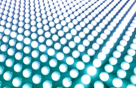 3D Futuristic Background with Glowing Sphere Circles