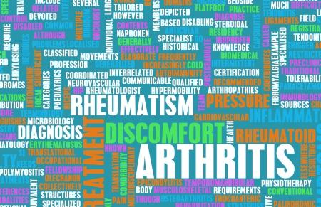 artritis: La artritis como una dolencia en Concept Foto de archivo