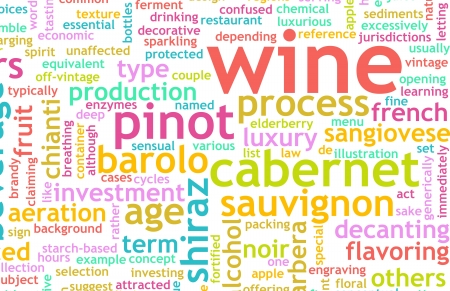 terminology: Wine Menu Selection Background as a Concept