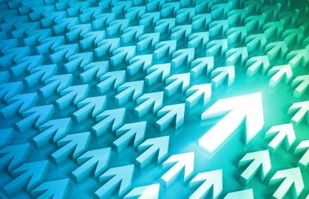 leading the way: Concetto di direzione con le frecce Leading the Way