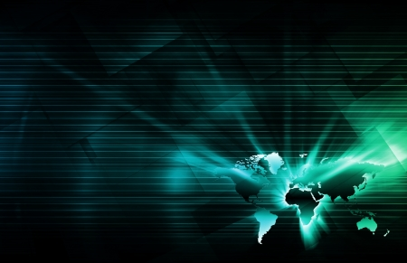Abstract World Technology Business as a Background photo