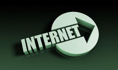 Internet Concept With an Arrow Going Upwards 3D Stock Photo - 21619527