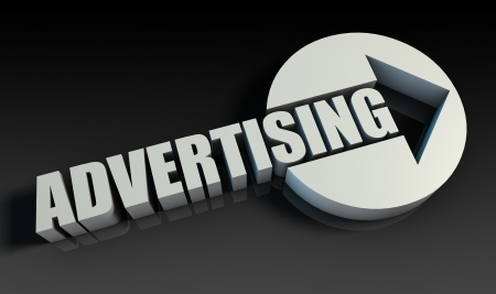 Advertising Concept With an Arrow Going Upwards 3D photo