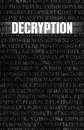 decryption: Decryption in Business as Motivation in Stone Wall