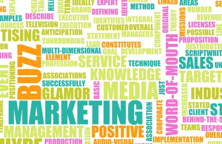 publicity: Marketing Buzz and Building the Hype as Concept Stock Photo